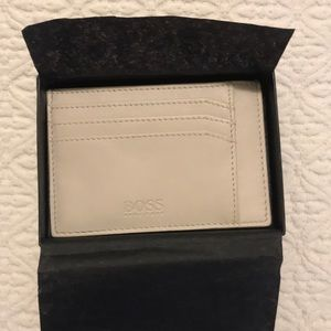 Hugo Boss Ivory Leather Card Wallet